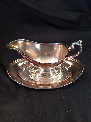 Sheridan Silverplate Gravy Boat And Underplate.