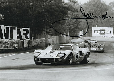JACKY ICKX - Originalautogramm, Ford GT40, Le Mans Sieg 1969