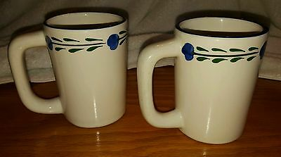 2 H.F. Coors Vintage Hand Painted Chefsware Mugs with D Handle