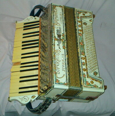 Vintage / Antique STRADELLA COOPERATIVE L'ARMONICA ITALIA ACCORDION -Restoration