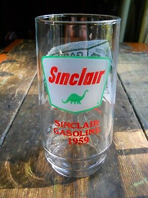 1 SINCLAIR GASOLINE ~Through the Years ~ Drinking Glass 1959 Dino Advertising !!