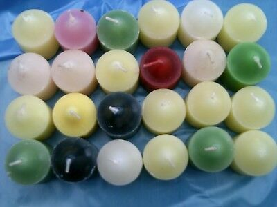 24 Partylite tealights mixed colours & scents and 18 votives
