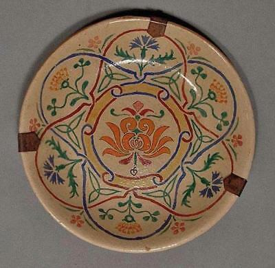 Antique 18th -19th century Turkish Ottoman Islamic Ceramic Kutahya Pottery Plate