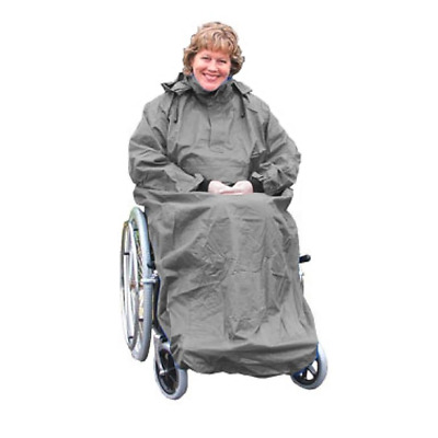 KOZEE KOMFORTS WHEELCHAIR COVERALL CAPE WITH SLEEVES Wheelchair Clothing - LARGE