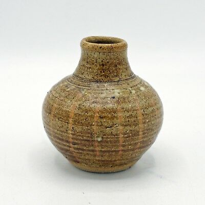 BILL and BIDDY PICARD (Mousehole Pottery, Cornwall) Small Stoneware Vase
