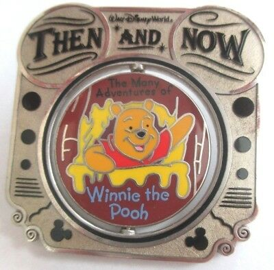 Disney Pin - WDW Then & Now - Mr. Toad to Winnie the Pooh LE #74891