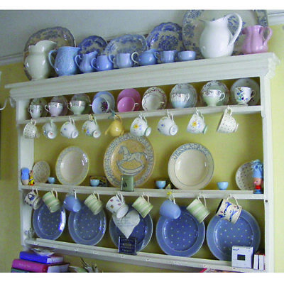 Large Victorian Country Kitchen Plate Rack/Dresser Top