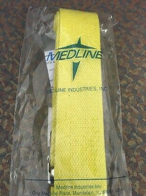 "Medline # MDT821203YL Gait Belt 72"" Metal Buckle Yellow New - 1pc"