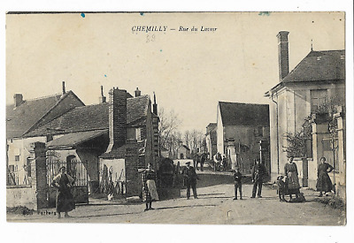 Cpa 89 / Chemilly /  Rue Du Lavoir / Animee