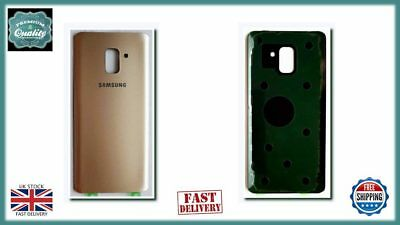 For Samsung Galaxy A8 Plus A730F 2018 Back Rear Battery Cover with Adhesive GOLD