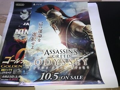 ASSASSIN'S CREED ODYSSEY POSTER Promo 2018 Japan Jp Jap Ps4 Xbox Switch Origins