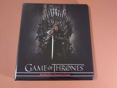 Game of Thrones Series One Trading Card set in binder + autograph card Q1-9 etc
