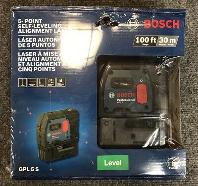 Bosch 5 Point Self Leveling Alignment Laser - Gpl 5 S (Nib)