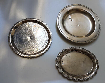 Antique Islamic Ottoman Turkish Egyptian Silver Plates with Tughra