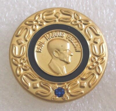 Vintage Rotary International Paul Harris Fellow Sapphire Donor Award Pin