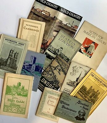Vintage British Tourist Booklets and Brochures C Early 1900s