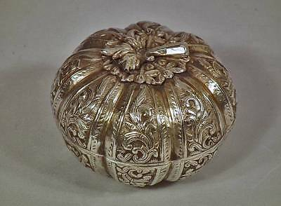 Antique Islamic Turkish Ottoman Solid Silver Jewelry Box 19th century