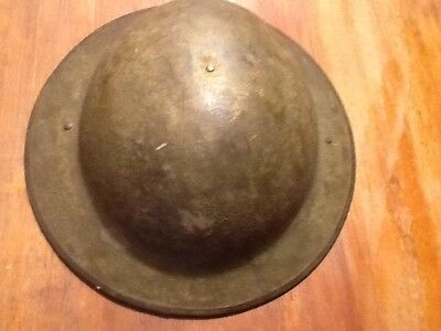 """Nice World War One Doughboy Helmet With Liner-Nice Condition 7 1/4"""""""