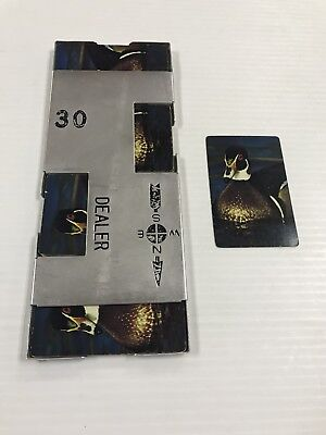 Vintage Bridge Casino Dealer Metal Shoe With All 52 Cards Duck Ships Fast!