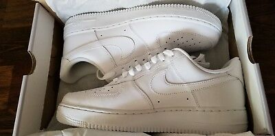 Nike Air Force 1 One Low All White Mens 315122-111