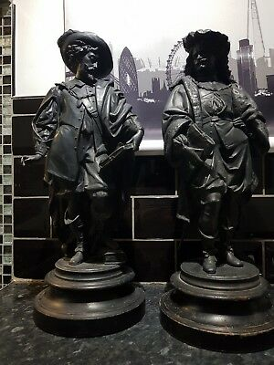 Rare Large Antique French Spelters , Superb Antique Condition