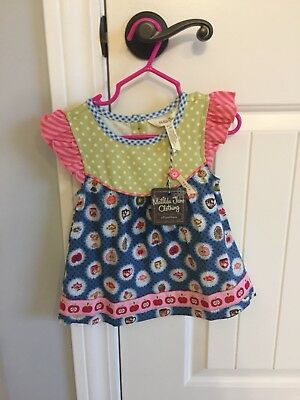 NWT Matilda Jane Cameo Girls Flutter Top Size 2 Back to School Sold Out