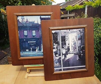 Norman Rockwell 2 Picture Prints In Lovely Hand Made Frames Art Plaque Toronto