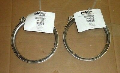 Lot of 2 Paccar Quick Latch V-Band Exhaust Clamps 90-0013 Stainless Steel 5.88""