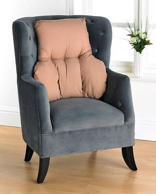 Beige Orthopedic Back Support Pillow Cushion  For Chair Sofa