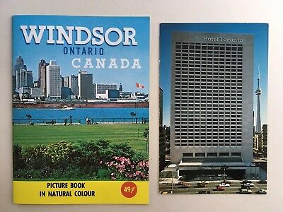 1960's Windsor, Ontario Canada Picture Book & 4 Postcards