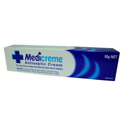 Medi Antiseptic Cream 50g for Cuts Burns First Aid Treatment Relief