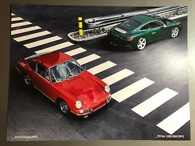 2018 Porsche 911 Coupe Showroom Advertising Sales Poster RARE!! Awesome L@@K
