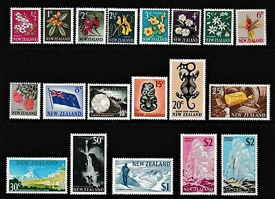 Dec,Pacific,New Zealand,1967Pictorial,Set of 18+$2Multi Geyser,MUH,CV$150+,#1730
