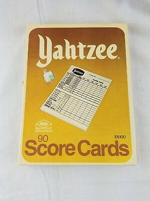 Vintage Yahtzee Score Pad Cards For BoardGame 1978 Hasbro E6100 an 5 sheets 1956