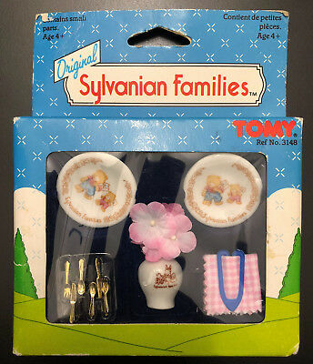 Sylvanian Vintage SEALED Ceramic Tableware & Kitchen Utensils Ref No. 3148 TOMY