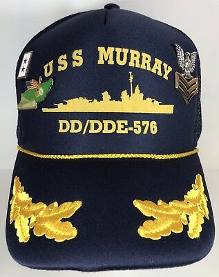 USS MURRAY DD DDE Navy Ship HAT U.S MILITARY BALL CAP Snapback Rank Pins
