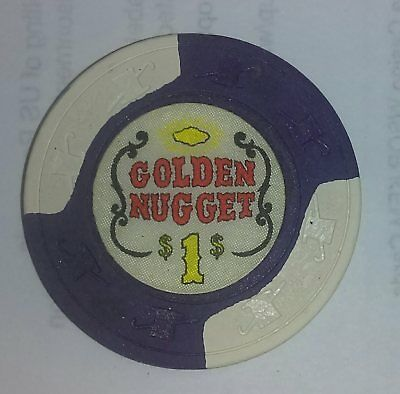 Golden Nugget Hotel and Casino Obsolete $1 Casino Chip
