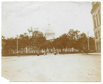Cabinet Photograph Showing a Distant View of the Capital Building in Sacramento