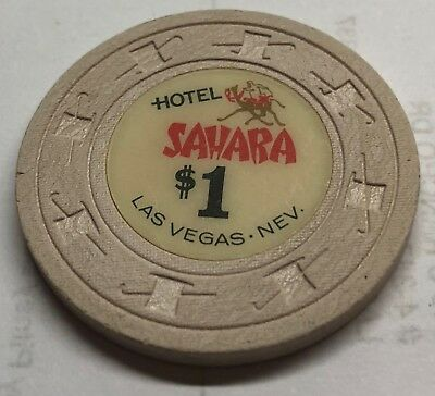 Sahara Hotel and Casino Obsolete $1 Casino Chip