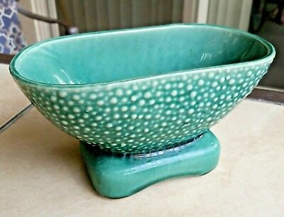 Really Cool Super Clean Mid Century, Vintage Brush (McCoy) Green Planter USA 821