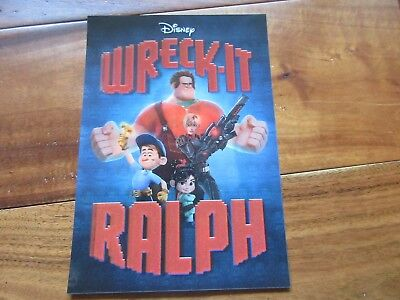 "2013 WRECK-IT-RALPH Disney Movie Club 3D Lenticular Collector's Card 5"" x 7"""