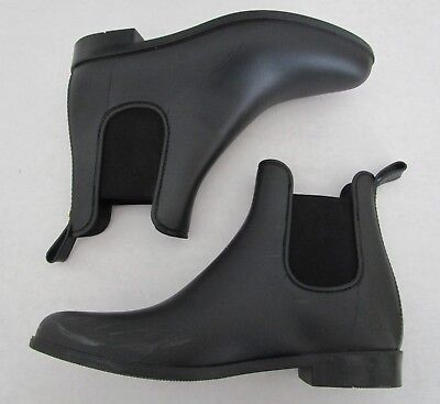 d041ba476aa08 WOMENS SAM EDELMAN Size 10 Rubber Rain Boots Black Chelsea Tinsley Ankle  Booties