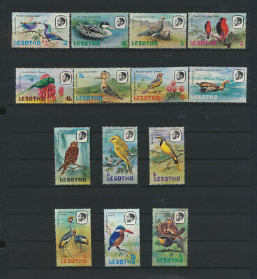 BIRDS 14 Different Mint NH COMPLETE Lesotho #321 - 334  $24.30 Scott  Value
