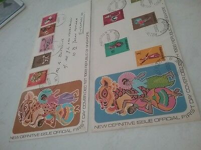 Singapore First Day Covers  1968