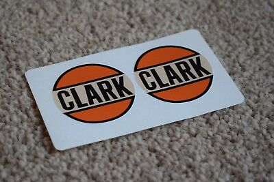 Clark Gasoline Racing Car Decal Sticker Petrol Gas Fuel Garage Pump Station 50mm