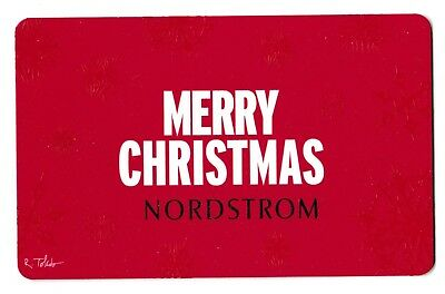 Nordstrom No Value Collectible Gift Card Mint 32 Merry Christmas