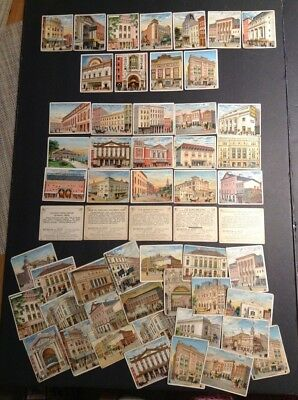 T108 1910 Between The Acts Cigars Theatre Cards-50+, many diff. f-ex, most vg
