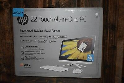 NEW HP SNOW White 22-b013w All-in-One touch screen 22'' Desktop PC