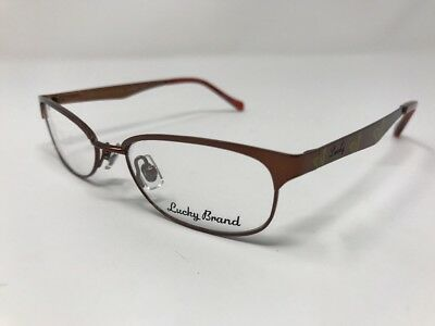 c56925fb60b0 Lucky Brand Eyeglasses LIZZIE 48-17-130mm Brown Shiny Metal Frame Full Rim  HT48