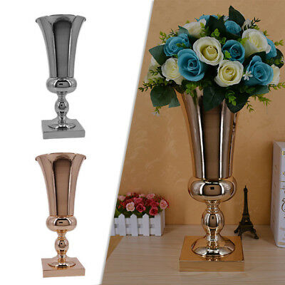 43cm Large Stunning Silver Iron Luxury Flower Vase Urn 2019 UK